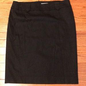 White House Black Market Black Skirt Lined Sz 12
